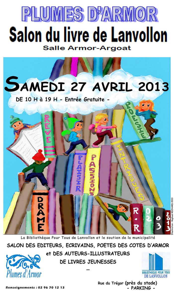 Affiche de Plumes d'Armor - Salon du livre de Lanvollon